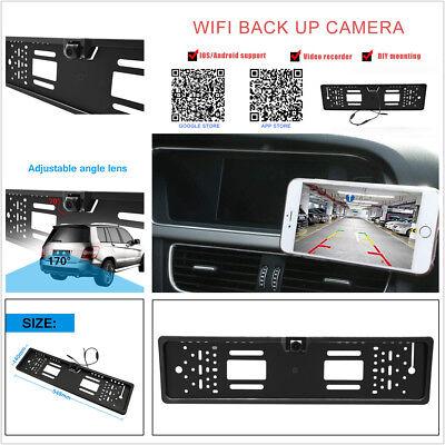 European Standard Car Licence Plate Frame Rear View Parking Wireless WiFi Camera