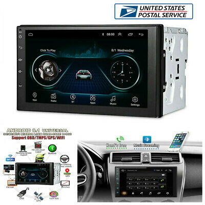 "7"" 2Din Android 8.1 Car WiFi Radio Stereo GPS Navigation Multimedia Player -USA"