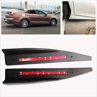 2X Car SUV Side Skirt Rocker Splitters Winglet Shovel Scratch Resistant Winglet