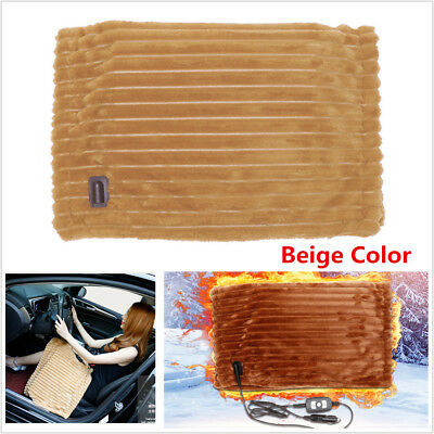 12V Car Electric Heating Blanket Security Warm Washable Soft Knee Pad Heater Mat