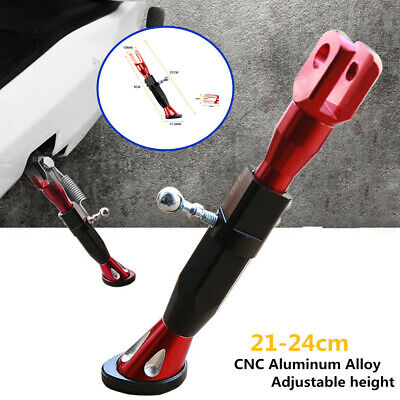 1*Red Motorcycle Kickstand Foot Brace Parking Leg Foot Side Support Stand Stable