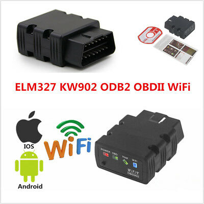 Wifi Elm327 Kw902 Obd2 Obdii Car Code Reader Scanner Diagnostic For Ios  Android