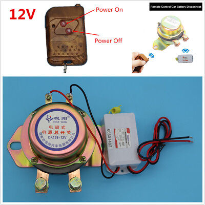 DC 12V Car Auto Electromagnetic Car Battery Switch Disconnect Remote Control Kit