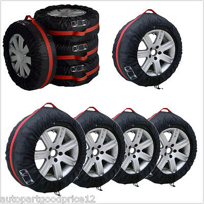 4x Car SUV Spare Wheel Tyre Tire Protection Cover 13 19 Carry Tote Storage Bag