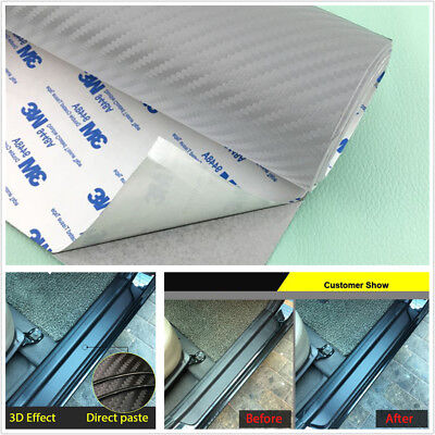 Silver 120*50CM Car Threshold Step Guard Scuff Plate Door Sill Cover Waterproof