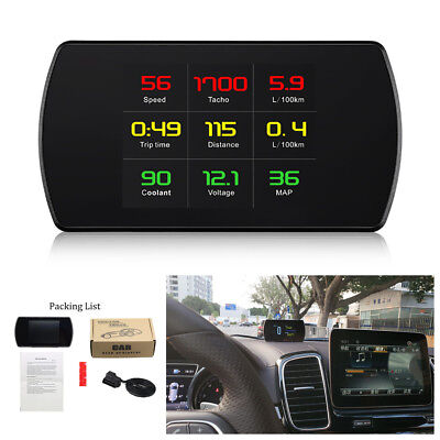 Car Digital TFT LCD OBD HUD Speed Projector Computer Speedometer Head Up Display