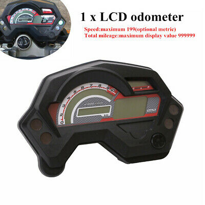 12V Motorcycle Scooter Bike LCD Digital Gauge Speedo/Tacho/Odo Meter Instrument