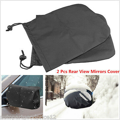 2Pcs Auto Car Rear View Side Mirror Frost Guard Snow Ice Winter Waterproof Cover
