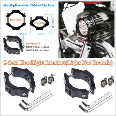 2 X ALUMINUM ALLOY MOTORCYCLE SPOTLIGHT HEADLIGHT MOUNT BRACKET FOR 30