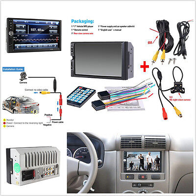 7'' HD Video Car Bluetooth Stereo MP5 MP3 Player + Night Vision Rear View Camera Bluetooth 2 Palette