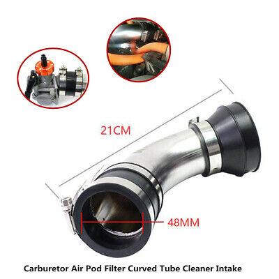 48MM 120°Carburetor Air Pod Filter Curved Tube Cleaner Intake For Motorcycle ATV