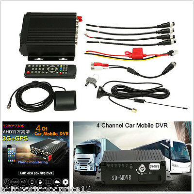 4Ch Ahd Car Mobile Dvr 3G Wifi Gps Realtime Audio Video Recorder Remote Control