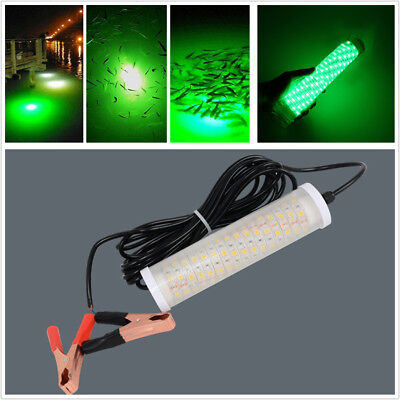Boat Dock 12V 20W 360 Degree View Green LED Underwater Submersible Fishing Light for sale  Shipping to South Africa