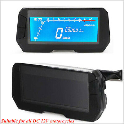DC 12V Motorcycle Modified LCD Speedometer Odometer Tachometer Speedometer