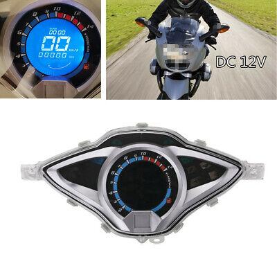 Motorcycle Bike LCD Digital Odometer Speedometer Tachometer Gauge Meter Device