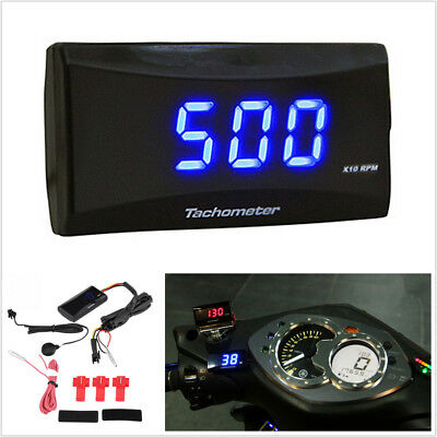 1x Racing Motorcycle Digital LCD Display Engine Tach Meter Tachometer Gauge RPM