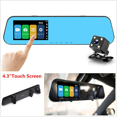 4.3 inch Touch Screen Car DVR Camera Review Mirror Video Recorder Dash Cam 1080P - Smart Car Review