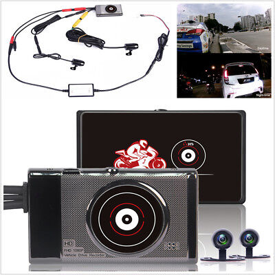 WiFi Motorcycle Camera Hidden DVR Rear View Camera Recorder Dash Cam Waterproof