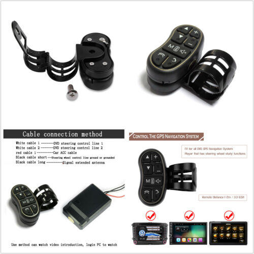 Universal Car DVD Video Player GPS System Steering Wheel Wireless Remote Control