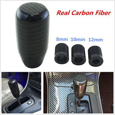 Universal 100  Real Carbon Fiber Car Suv Gear Shift Knob Shifter Straight Stick