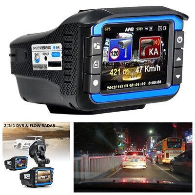 """2""""HD Car DVR Camera Video Recorder Radar Laser Speed Track Detector Night Vision"""