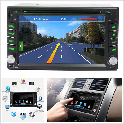 "6.2"" HD Touch 2Din GPS Navigation Car Stereo DVD CD Player FM Radio Bluetooth BT"