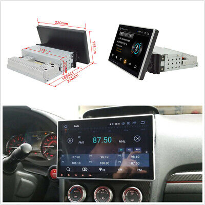 Single DIN Car Touch Screen 9'' Android 9.1 Stereo Radio BT GPS WiFi Mirror Link