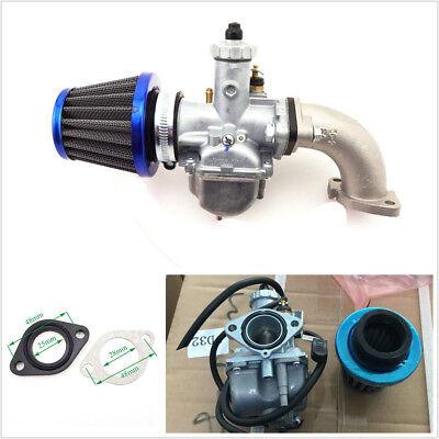 26mm Carburetor+38mm Air Filter Cleaner+Manifold Intake Pipe For 110 125cc 140cc