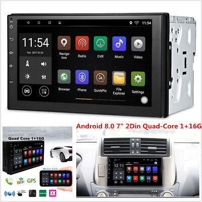 7'' Android 8.0 4G WiFi Double 2Din Car Radio Stereo GPS Navi Multimedia Player, used for sale  China