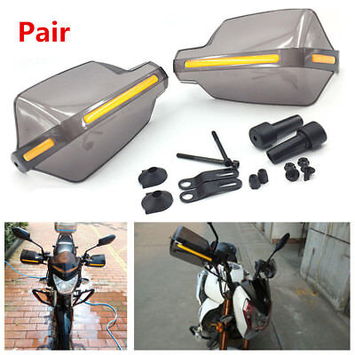 "2X 7/8"" Motorcycle ATV Smoke Translucent Handlebar Brush Bar Handguard Protector"