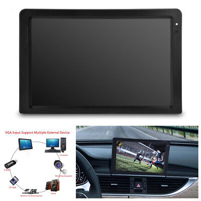 Digital Analog Car TV 12 Inch Color TFT LED HD TV ATSC Television HDMI VGA Port Atsc Led