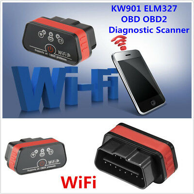 Kw901 Elm327 Obd Obd2 Ii Wifi Scanner Car Diagnostic Scan Tool For Ios Android