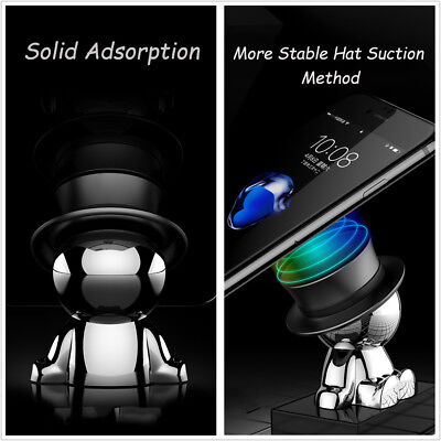 4.9cm * 2.9cm Good-looking Doll Modeling Stable Phone Holder Car All-round Rotation