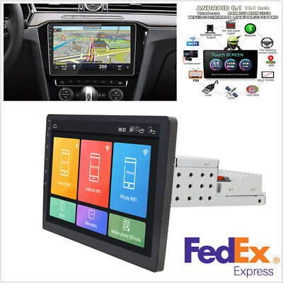 """10.1"""" 1Din Android 8.1 Touch Screen Quad-core 2GB+32GB Car Stereo Radio GPS Nav"""