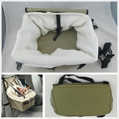 Booster Car Seat Pet Carrier Safety Basket Sheepskin Fit Medium &Small Dogs Cats Compass Booster Car Seat