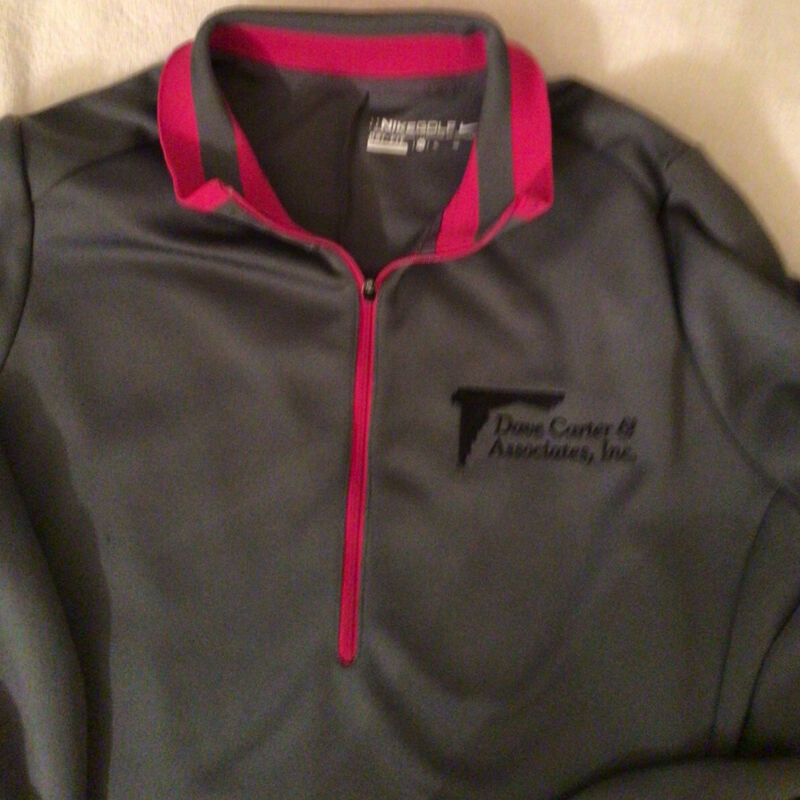 NIKE DRY FIT GOLF WOMEN's XL Gray with Pink Trim pullover, Nice!