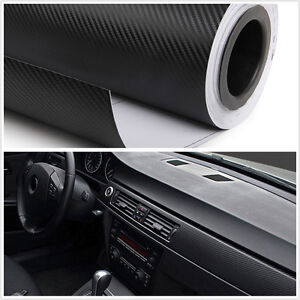 Luxury car interior trim panel 3d carbon fiber wrap sheet film sticker vinyl diy ebay for Vinyl wrapping interior trim