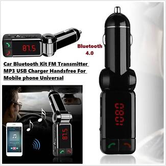 Dual USB Charger Bluetooth handfree Stereo MP3 Car Player NEW