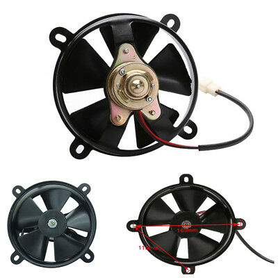 Motorcycle 4 Wheeler Quad Oil Cooler Water Cooler Radiator Electric Cooling Fan