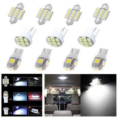 14x Car T10 LED Light Interior Bulb Package Kit For Map Dome License Plate Light