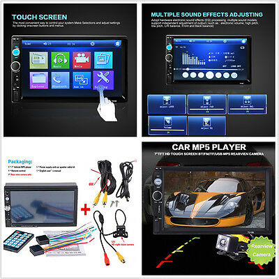 7'' Car Bluetooth Stereo HD Screen MP5 MP3 Player Hands-free Call Remote Control Bluetooth 2 Palette