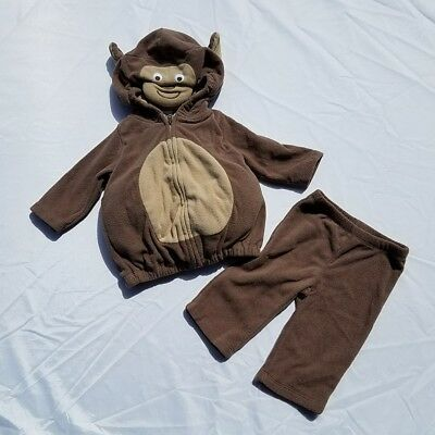 Carters Boys Girls Monkey Costume Size 3-6 Month Halloween Chimp Warm  Hood Tail](Boys Monkey Costume)