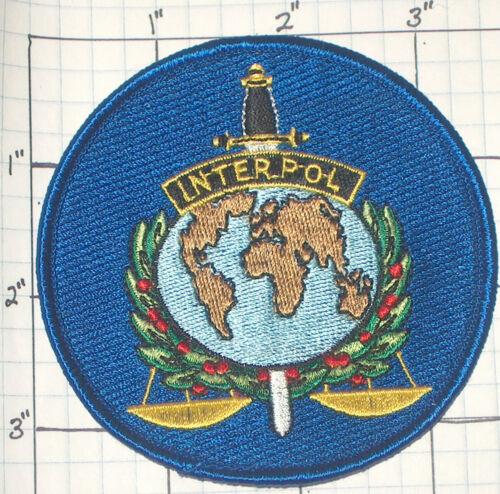 INTERPOL INTERNATIONAL CRIMINAL POLICE ASSOCIATION PATCH