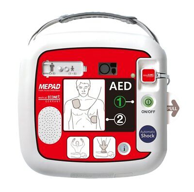 Automatische Defibrillator (medical ECONET AED ME PAD - Ersthelfer-Defibrillator - Vollautomatisch - inkl. T)