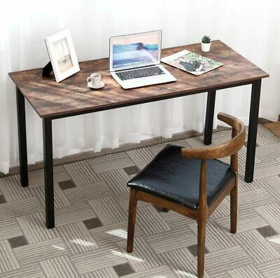 Industrial Home Office Computer Desk Gaming Study Writing Table Rustic Furniture