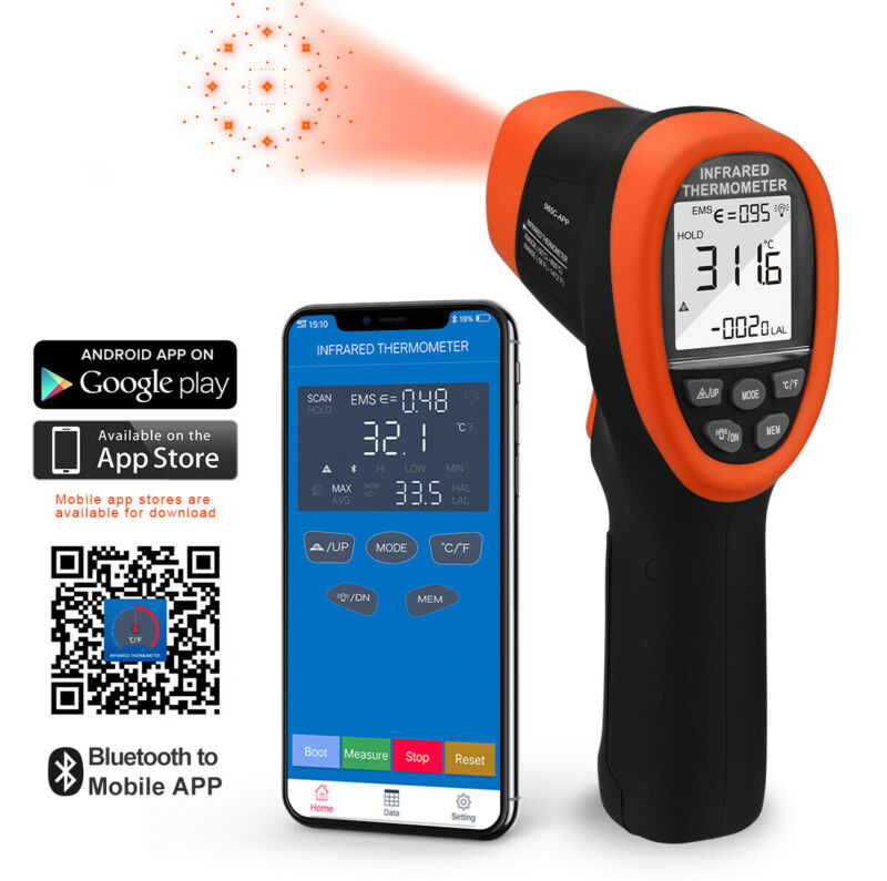 Digital Infrared Thermometer Non-contact Digital Laser Infrared Temperature Gun