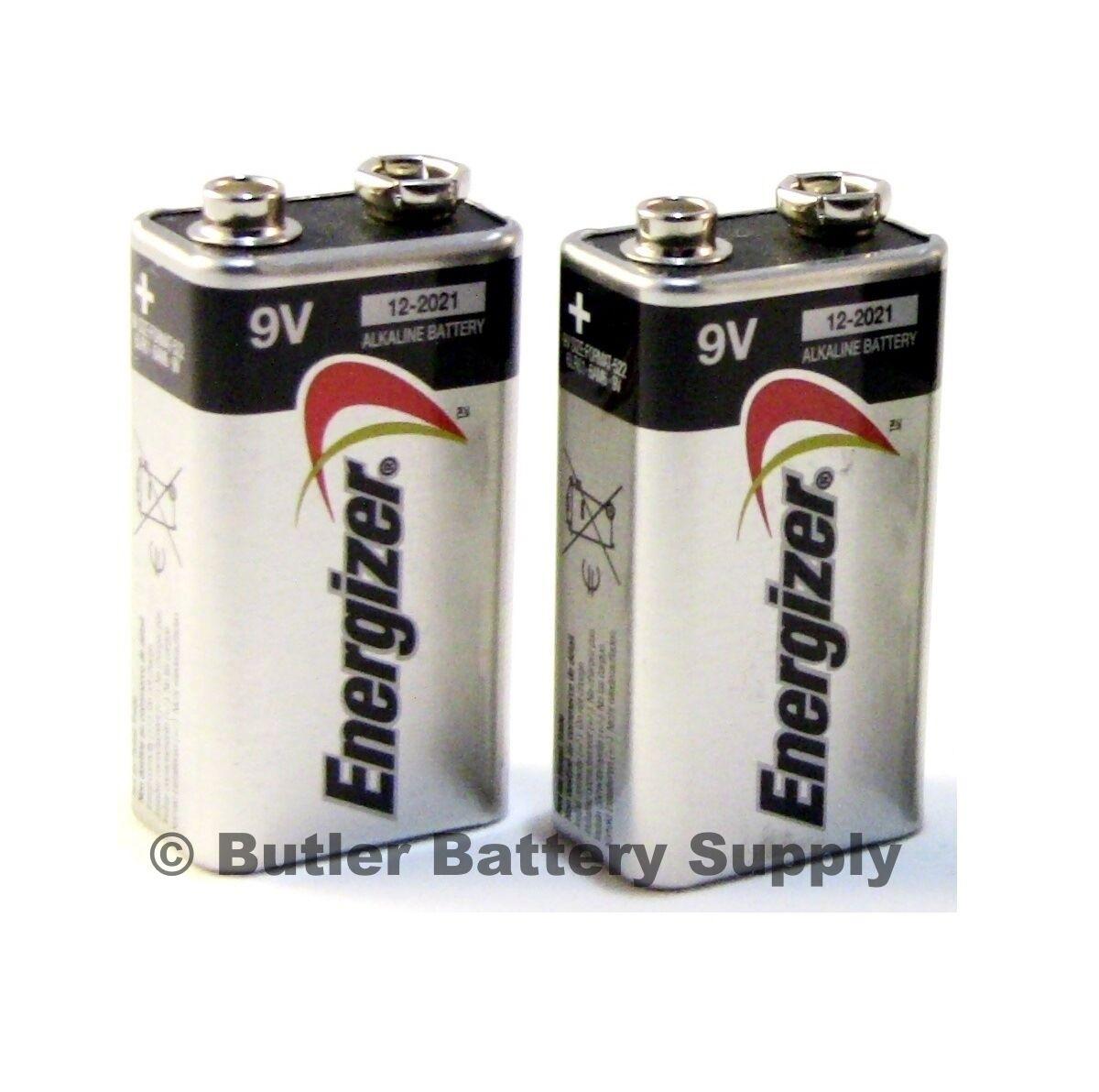 2 energizer max 9v 9 volt alkaline batteries 522 6lr61. Black Bedroom Furniture Sets. Home Design Ideas