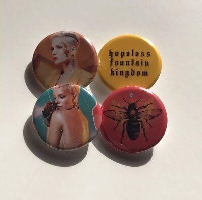 "Halsey 1.25"" Buttons Pins Set Of 4 Hopeless Fountain Kingdom"