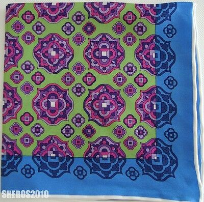 NWOT Authentic MICHELSON'S MICHELSONS Silk Pocket Square Pochette Handkerchief