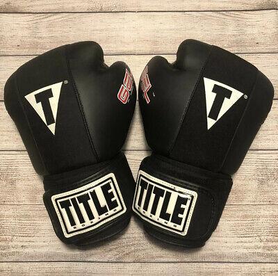Lime//Black Title Boxing Gel Glory Super Bag Gloves